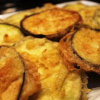 Beer-battered aubergine