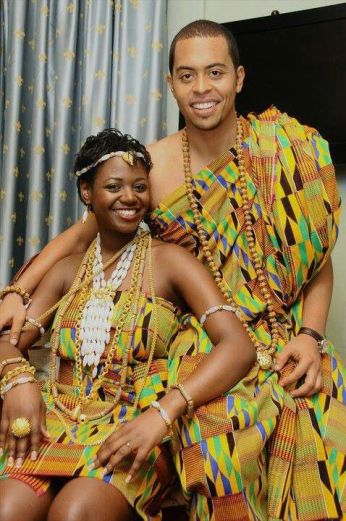 Happy traditional couple