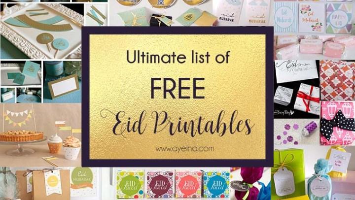 Ultimate List of FREE Eid Printables