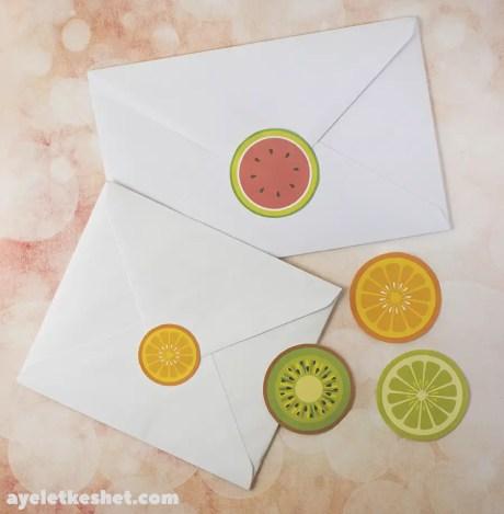 fruit free printables