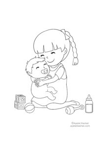 Free Coloring Pages About Family For Kids Ayelet Keshet