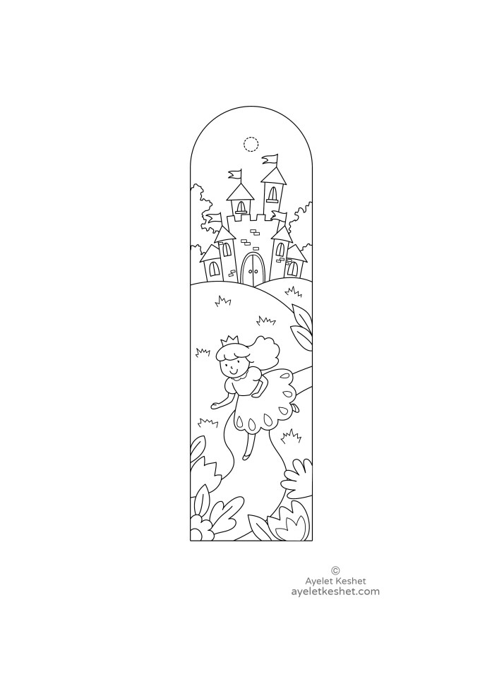 printable bookmarks for coloring for kids