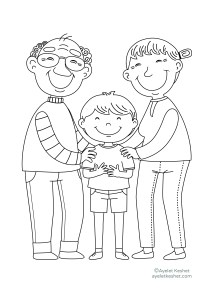 coloring pages about family - grandparents