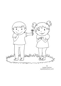 coloring pages about friendship - first love