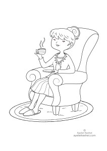 coloring pages about feelings - relaxation