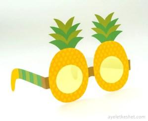 Printable fruit glasses - pineapple