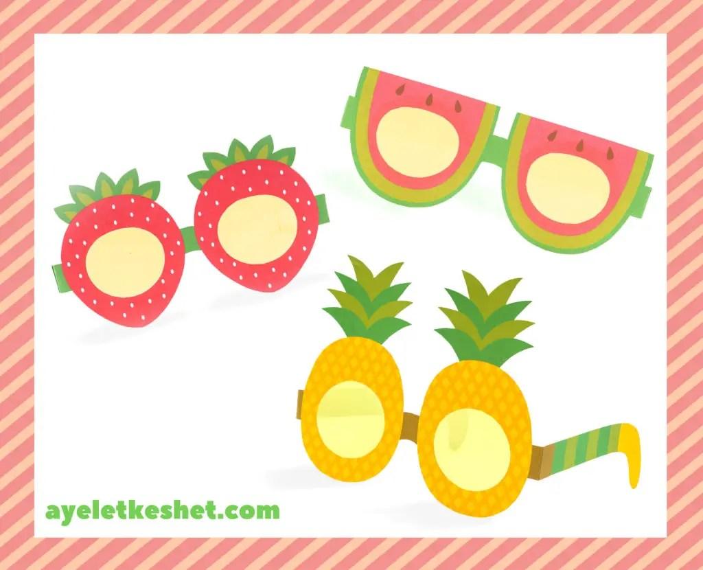 Free Printable Summer Fruit Glasses