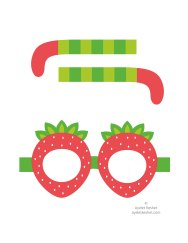 Printable fruit glasses - file 1
