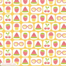 free summer printables - pattern paper 2