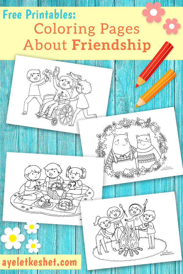 Free Coloring Pages About Friendship - Ayelet Keshet