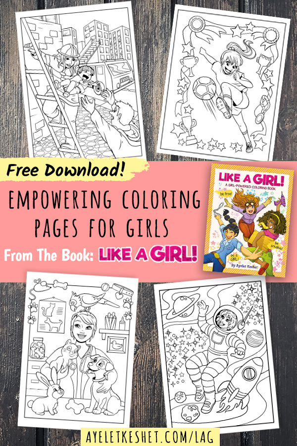 free printable coloring pages with an empowering message for girls free printable coloring pages with an