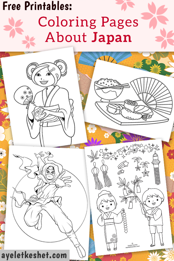 Free Coloring Pages About Japan For Kids - Ayelet Keshet