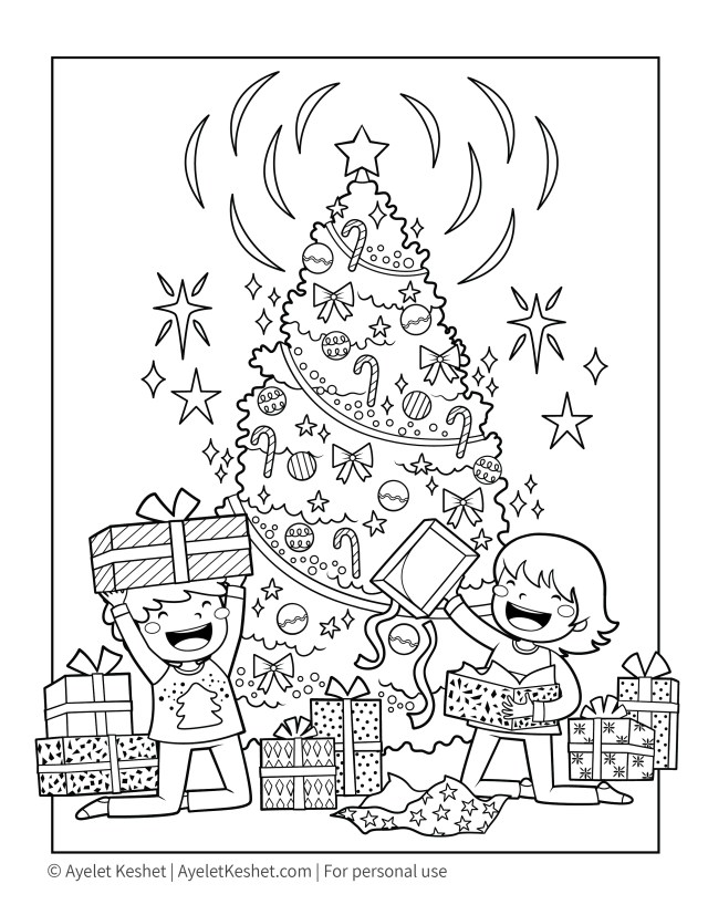 Free Printable Christmas Coloring Pages for kids - Ayelet Keshet