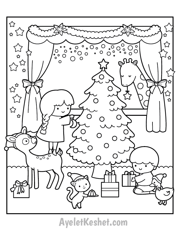 Free Printable Christmas Coloring Pages For Kids Ayelet Keshet