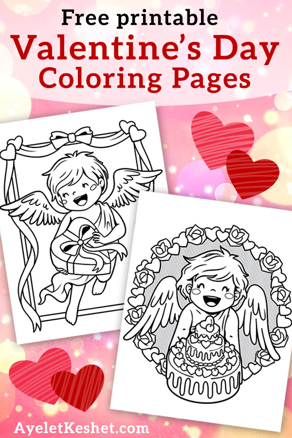 Free Printable Valentine's Day Coloring Pages - Ayelet Keshet