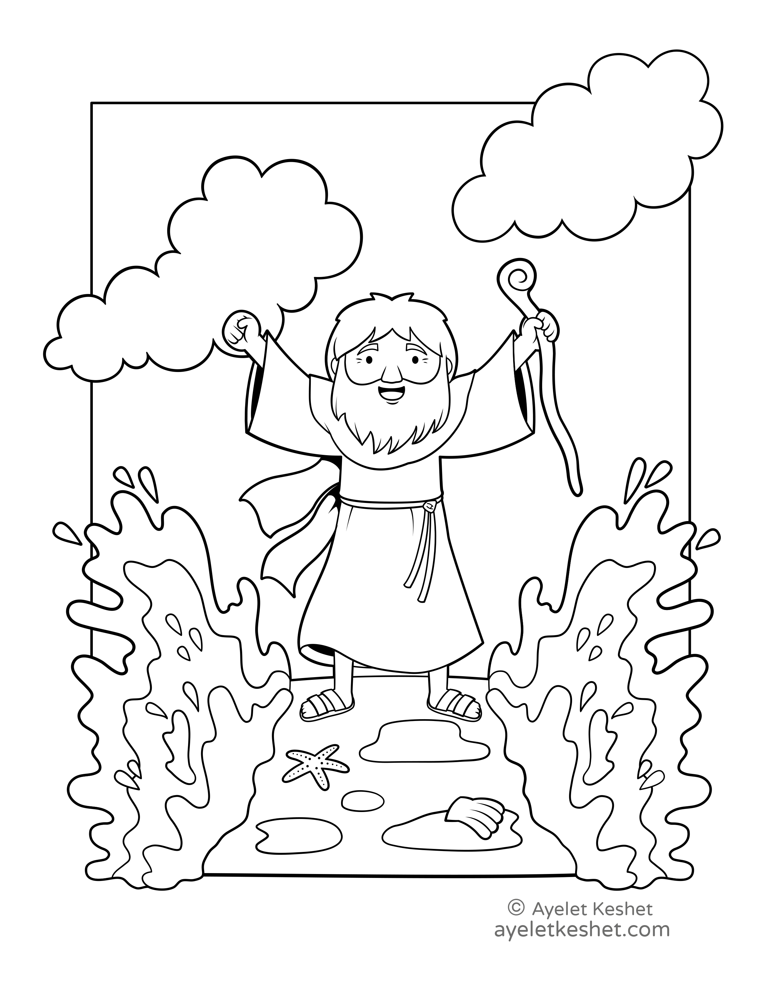 Passover Coloring Pages With Cute Illustrations
