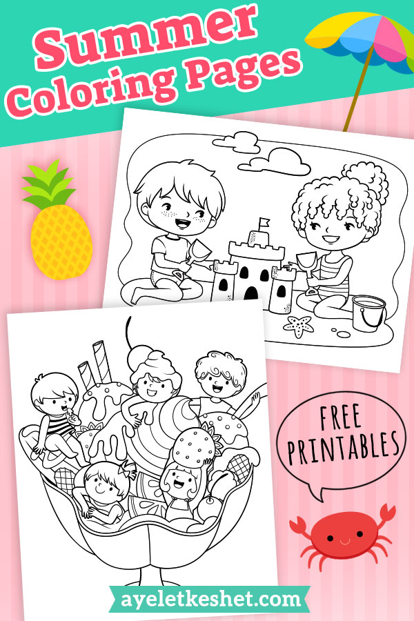 - Adorable Summer Coloring Pages For Kids - Ayelet Keshet