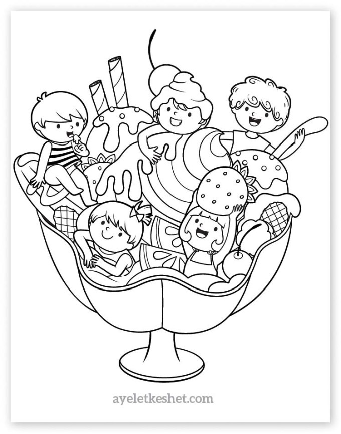 Adorable summer coloring pages for kids - Ayelet Keshet