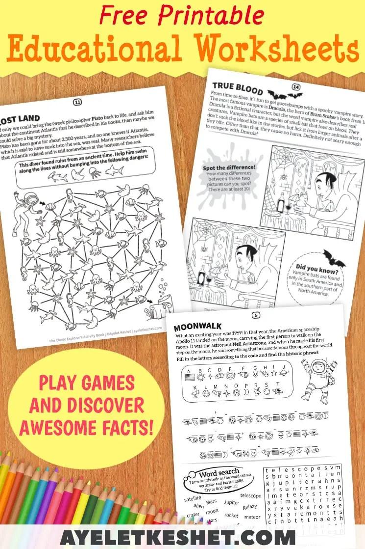 Fun And Educational Printable Worksheets - Ayelet Keshet