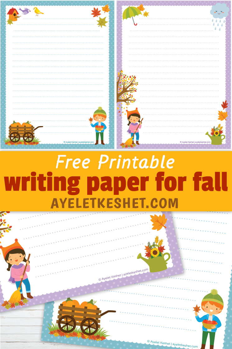 Free Printable Writing Paper For Fall Ayelet Keshet
