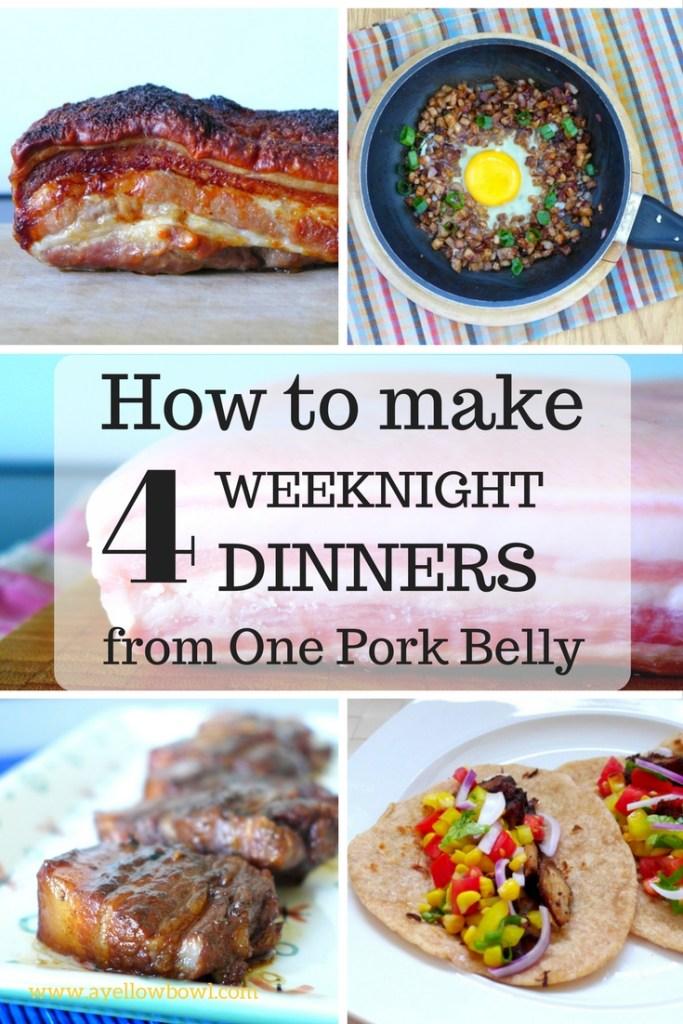 pork belly meals