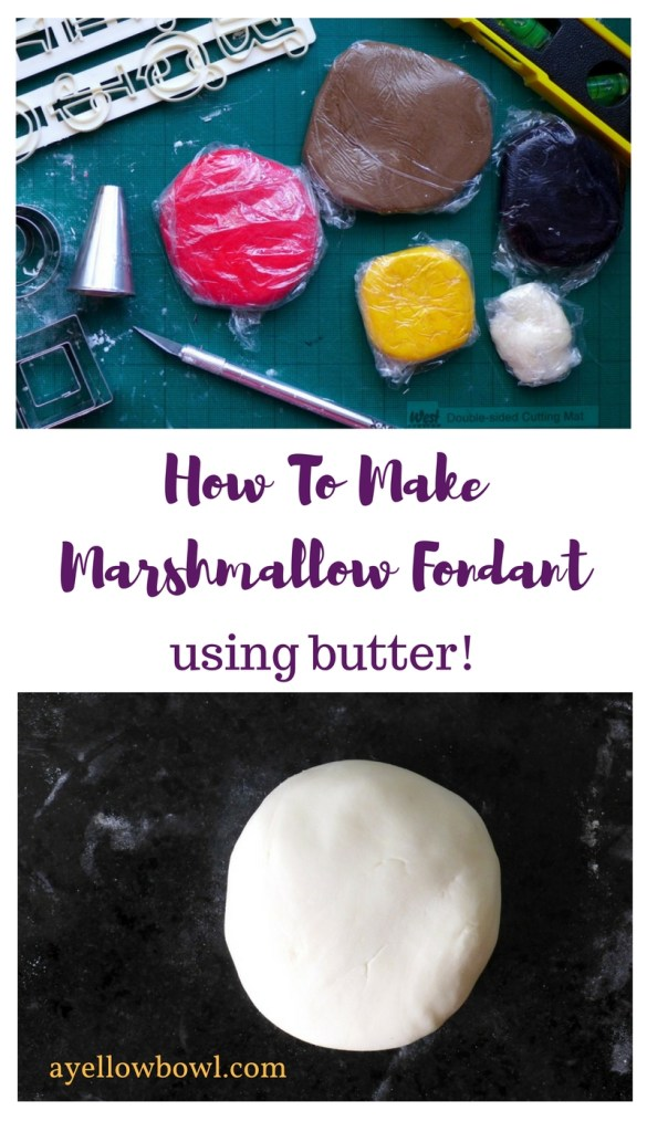 Marshmallow Fondant with butter