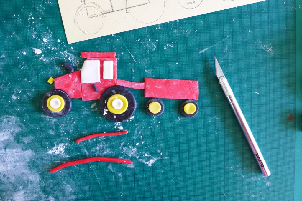 assemble the tractor