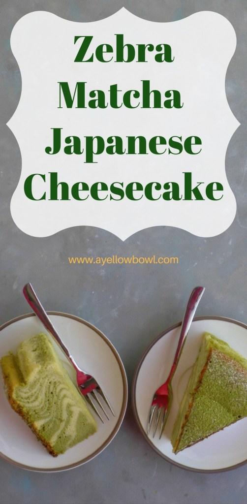 Zebra Matcha Japanese Cheesecake