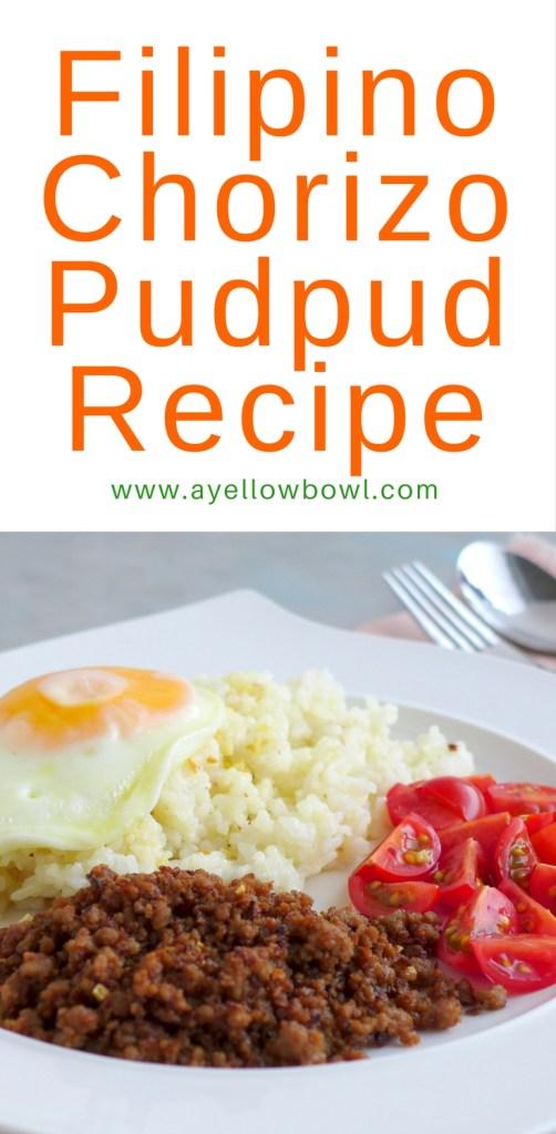 how to make filipino chorizo pudpud