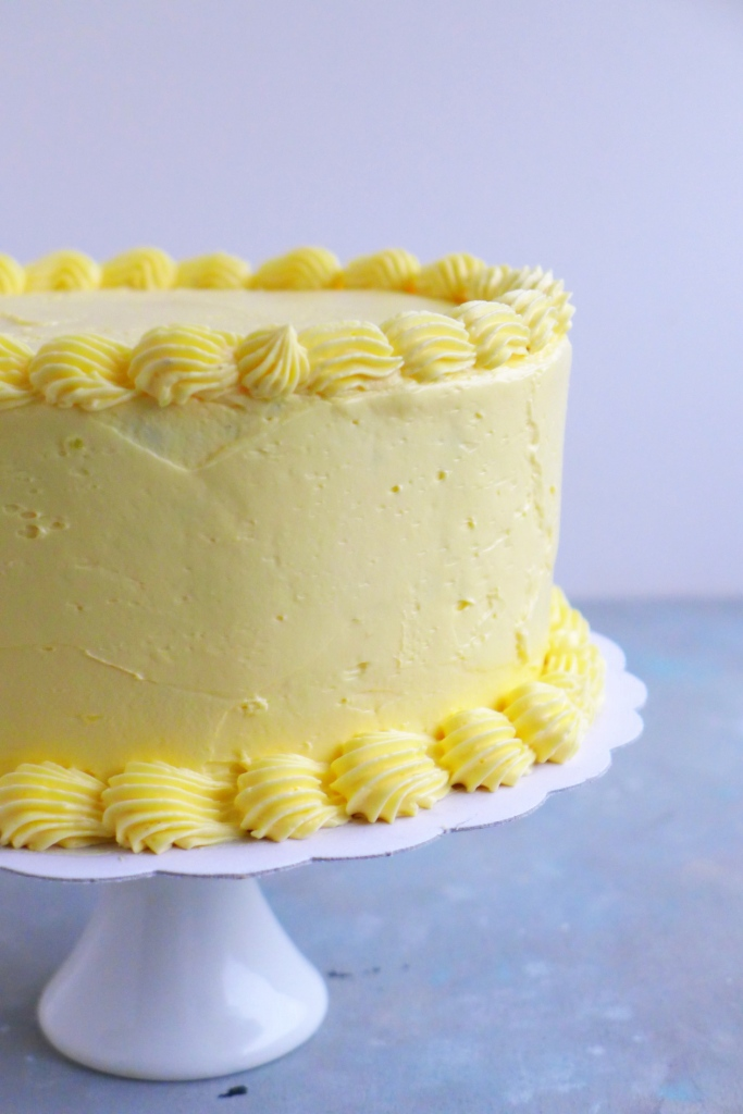 cake with french buttercream