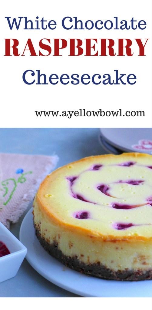 Recipe for White Chocolate Raspberry Cheesecake