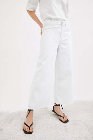 MID-RISE CULOTTE JEANS