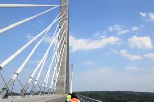 Merrowvista summer camp Voyageurs bike over bridge
