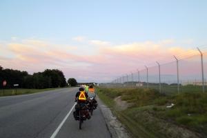 Merrowvista summer camp Voyageurs bike before sunset