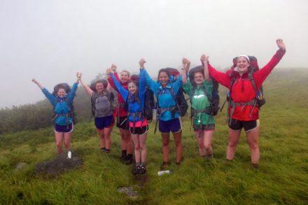 Explorer girls celebrate backpacking success