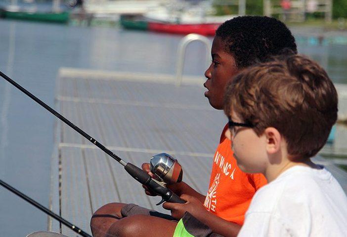 Darer boys fishing on Stony Lake