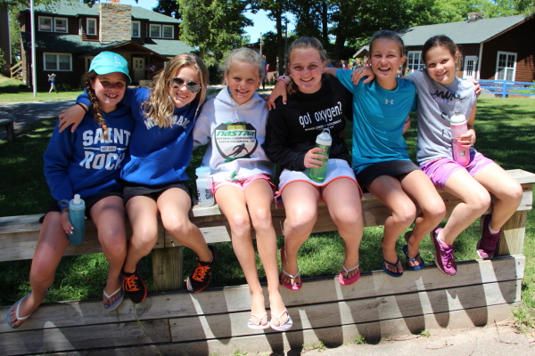 Cabin of Juniors hanging out before lunch