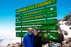 Dr. Maroon with his daughter, Bella, on the summit of Mt. Kilimanjaro