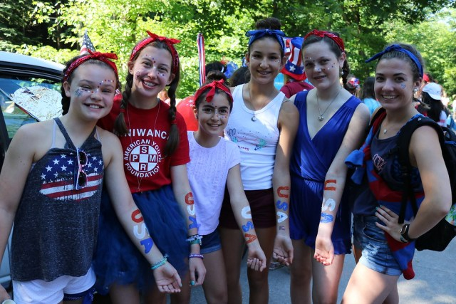 Miniwanca, campers, summer camp, fourth of July