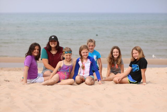 Campers at Beach 2018