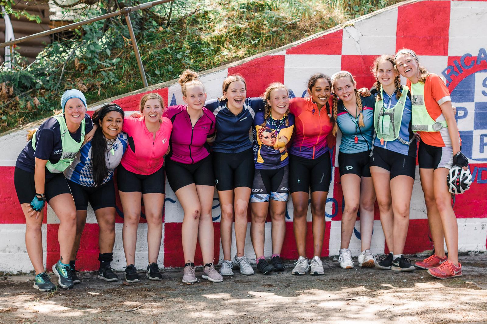 Adventurers, girls, miniwanca girls camp