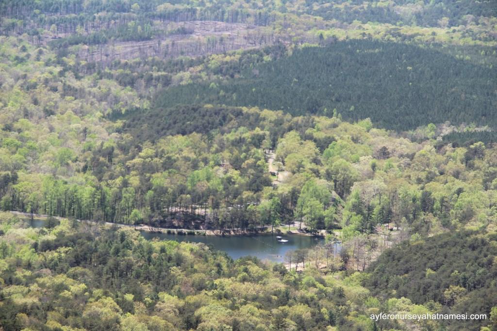 Cheaha Gölü, Talladega Milli Ormanı ve kaldığımız kamp alanı...