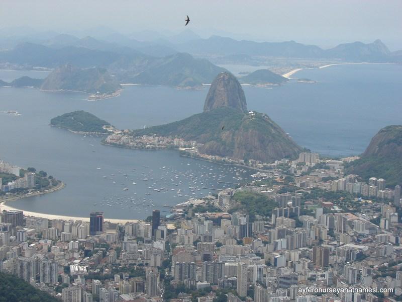 Corcovado'dan Sugar Loaf Tepesi - Rio de Janeiro
