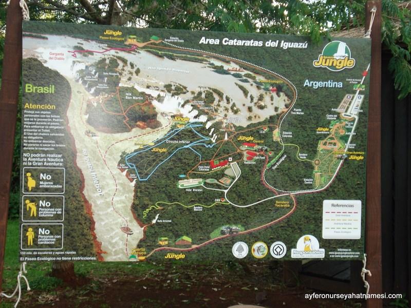 İguazu Şelaleleri Haritası