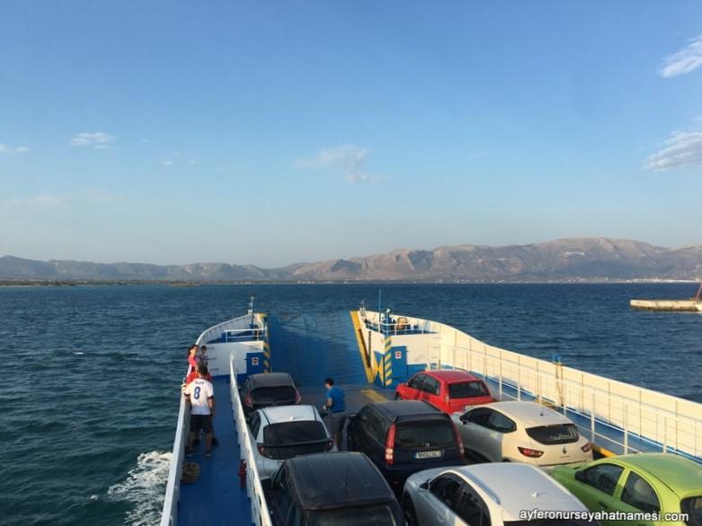 Elafonisos Adası feribot yolculuğu