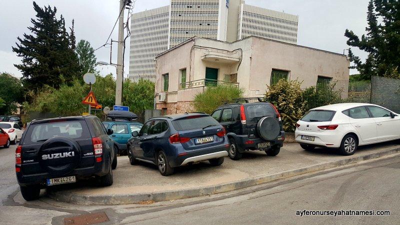Biri Yunanistan'da otopark mı dedi :)