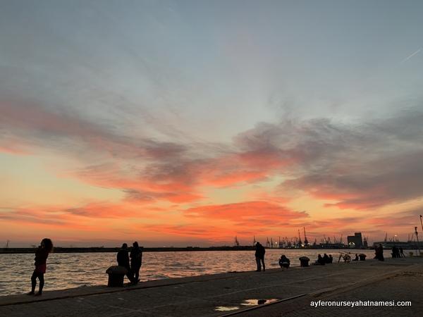 Selanik gün batımı