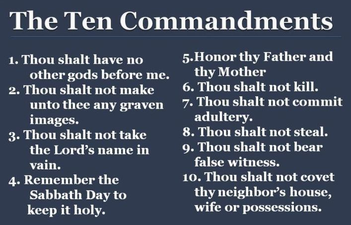 Image result for 10 commandment