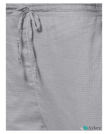Best Hand Embroidered Grey Kota Chikankari Kurta