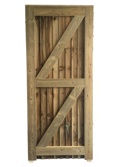 Closeboard Gate Back Right Hand